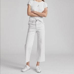 Rag & Bone White Ankle Justine High Rise Jeans 29